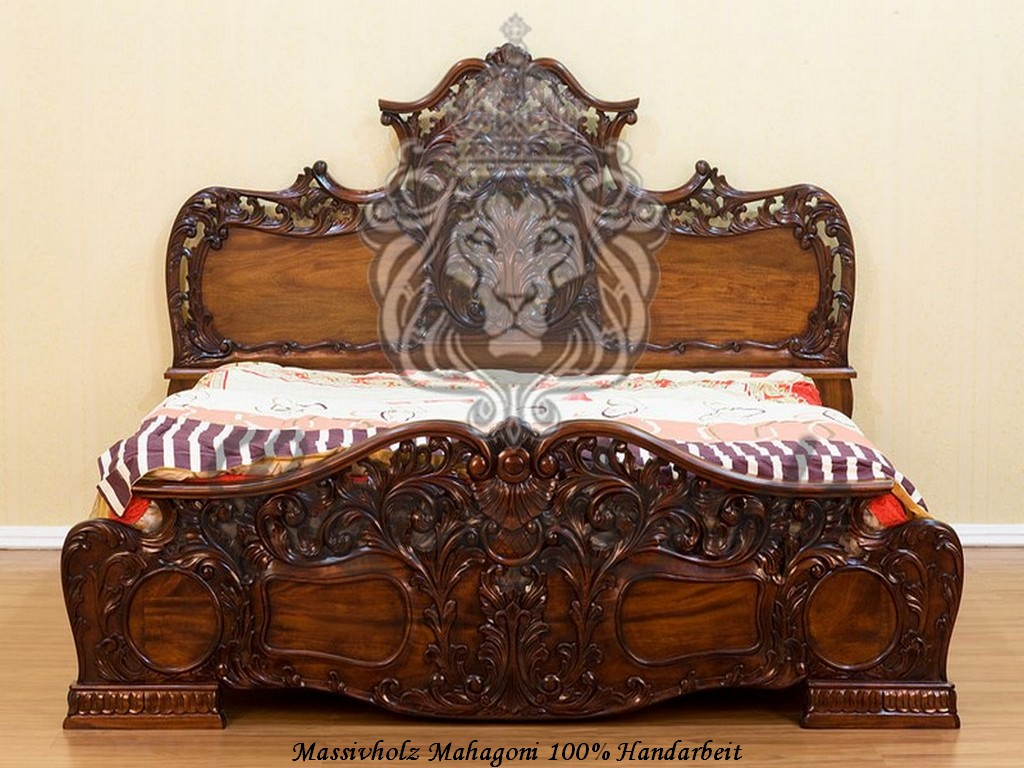 bett massivholz im barockstil massiv ebay. Black Bedroom Furniture Sets. Home Design Ideas