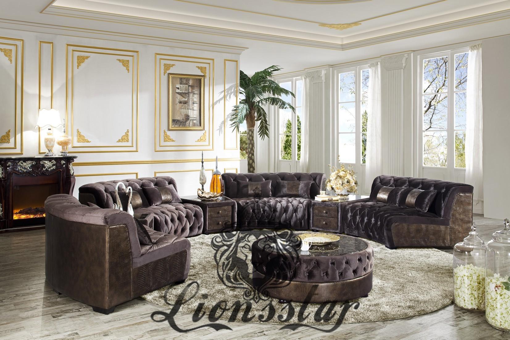 wohnlandschaft rund ebay. Black Bedroom Furniture Sets. Home Design Ideas