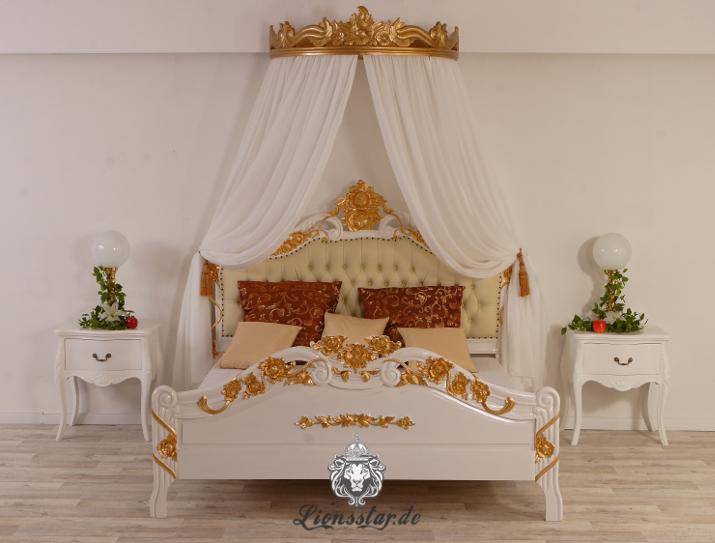 betthimmel moskitonetz baldachin insektennetz himmel barock massivholz rokoko ebay. Black Bedroom Furniture Sets. Home Design Ideas